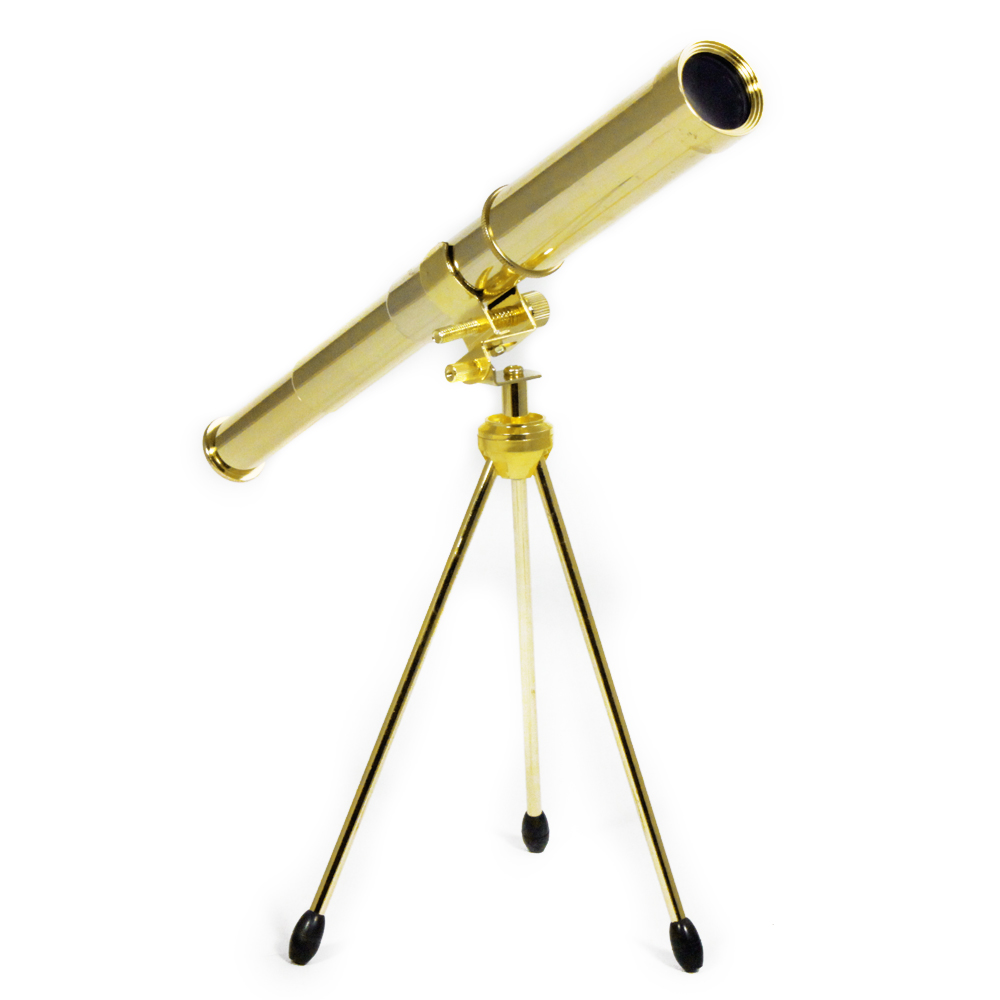 "14"" Solid Brass 30mm 25X Power Spyglass Telescope"