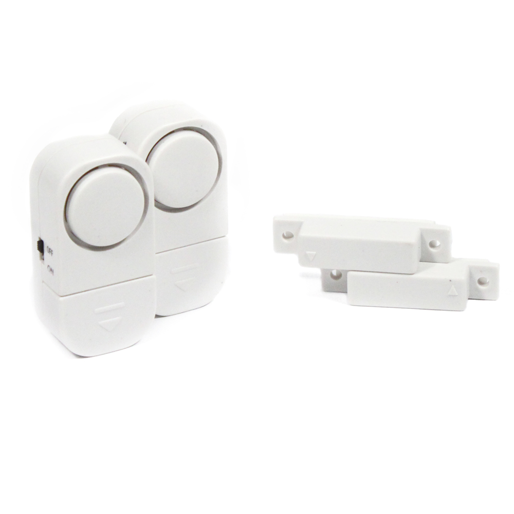 2pk Wireless Door & Window Mount Security Alarm Set
