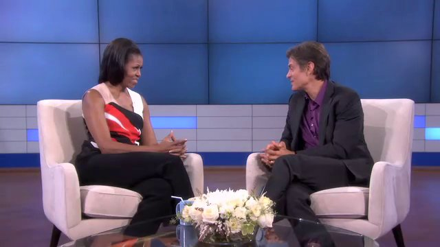 Dr. Oz show - First lady Mrs. Obama Jumps Rope Routine