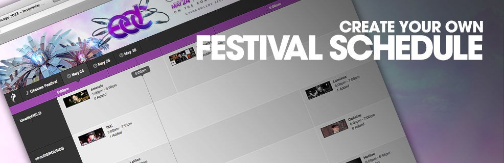 Create Your Own Festival Schedule