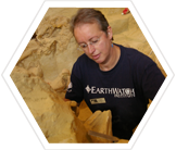 Earthwatch volunteer on an archaeological dig