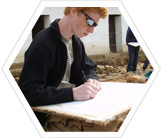 Teen volunteer on an Earthwatch archaeology dig in England