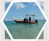 Research boat in Moreton Bay