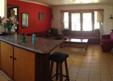 A typical rental-house kitchen in Hermanus.