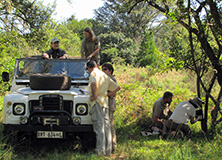 Earthwatch volunteers in the field, South Africa