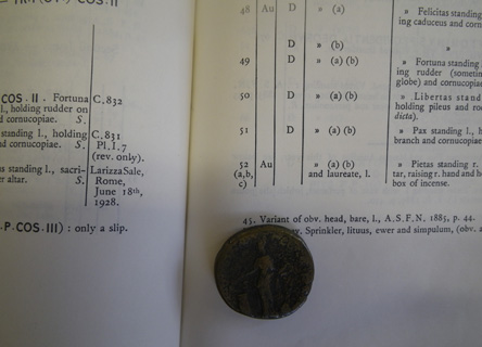 Roman coin identification