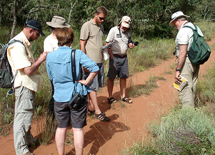 Earthwatch research team tracking animals, South Africa
