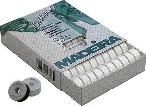Madeira Pre Wound Bobbins L 50 Spools White 9766w