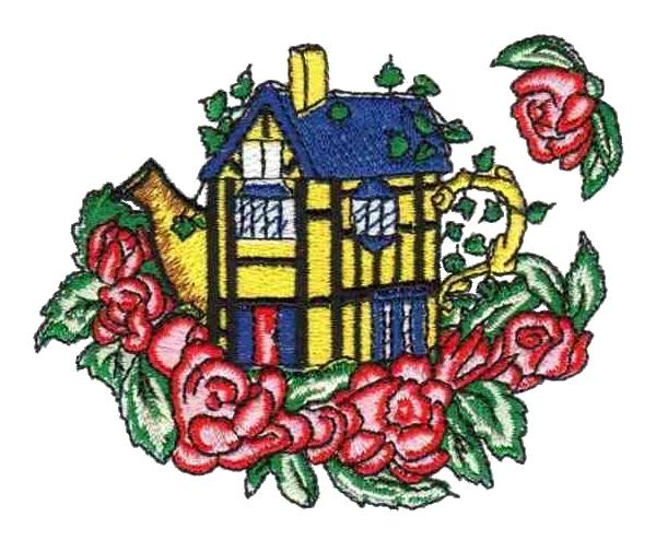 Embroidery designs cottage rose makaroka