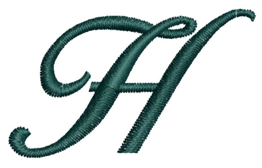 Script Alphabet Capital H (AL114) Embroidery Design by ...