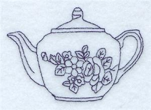 Rosa Teapot CD040110TL Embroidery Design By Starbird Inc
