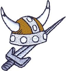 Sword Mascot Embroidery Design