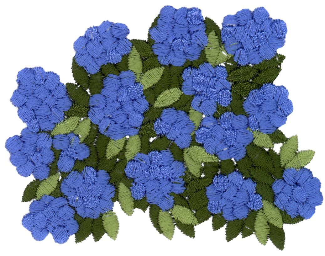 Hydrangea sig embroidery design by cactus punch