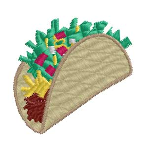 Embroidery Design Taco Outline