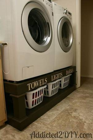 Washer And Dryer Stand Cover Photo