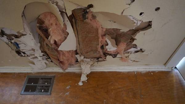 sheetrock Patch And Rehang Door Cover Photo