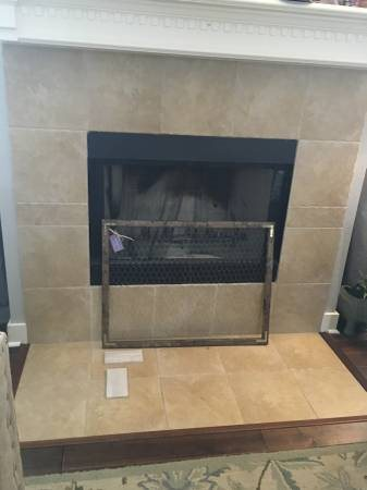 Need Fix of Poor Tile Job - Fireplace Cover Photo