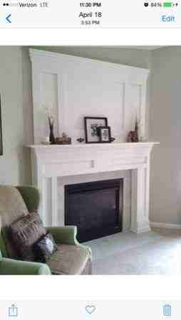 Crown Molding Fireplace Mantel Cover Photo