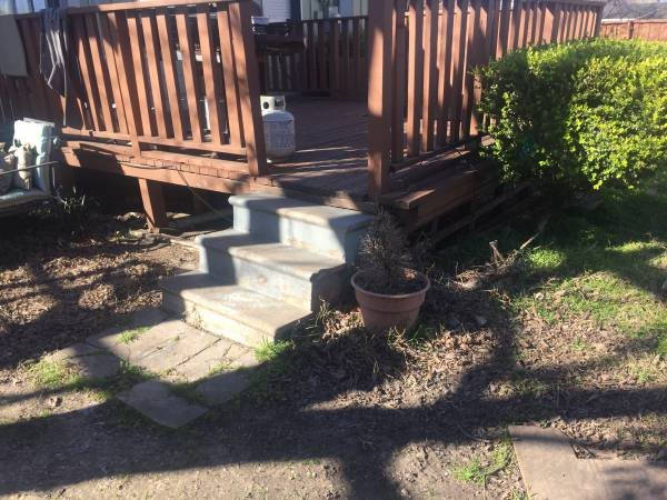 Removed old Small Deck and dig Irrigation Ditch Cover Photo