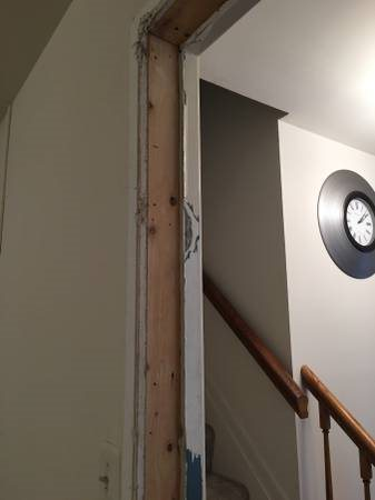 Doorway Drywall And Trim Cover Photo