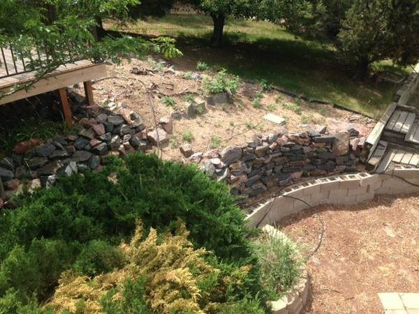 Landscape Project w  Retaining Wall And River Rock Cover Photo