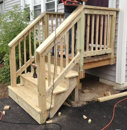 Need Wooden Front Door Steps Built Cover Photo