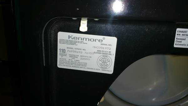 Kenmore gas Dryer Won t Heat up Needs Cover Photo