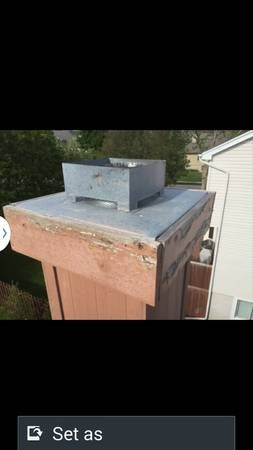 Storms - Fireplace Leakage   Chimney Cap   Boards Paint Cover Photo