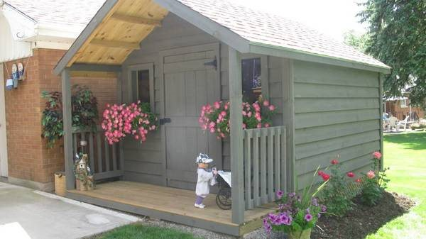 Build Me A 10X12 Shed With A Porch Cover Photo