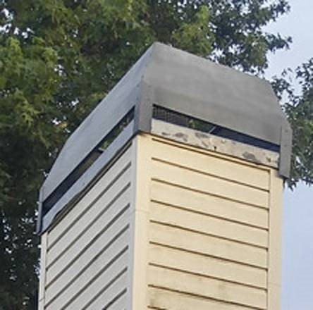 Clean And Paint Chimney Cap Cover Photo