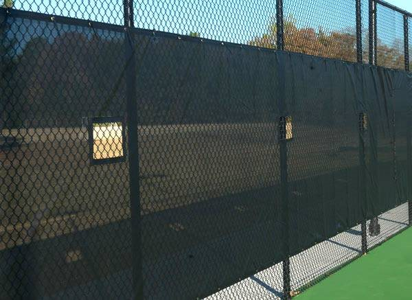 Install A Tennis Fence Tarp Cover Photo