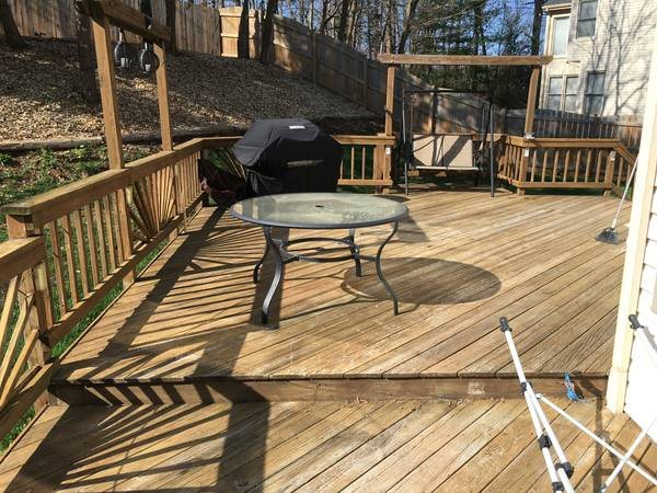 Need 416 Sq Ft Deck Power Washed &Amp; Painted In Two Days Cover Photo
