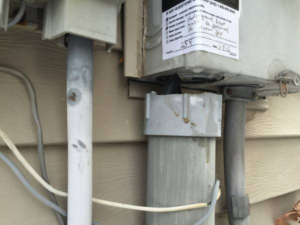 Electric Meter box Conduit Repair Cover Photo