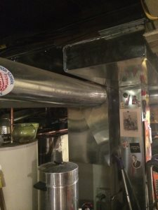 Heating Ducts moved to make headroom in basement Cover Photo