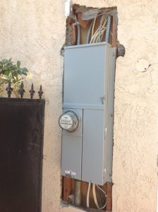 Stucco Around Electrical Panel Cover Photo