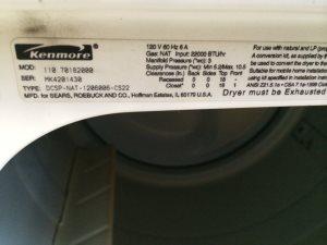 Cost of Dryer Repair