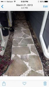 Paved Flagatone Walkway Cover Photo