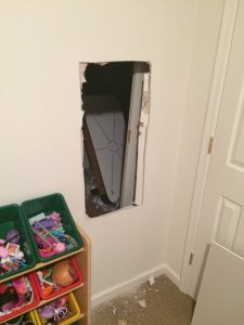 Fix Hole in Drywall