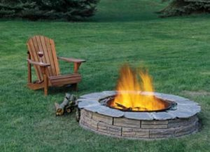 Build A Stone Fire Pit Cover Photo