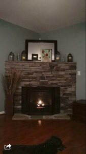 Stone Fireplace Cover Photo