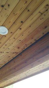 Install Cedar Soffit Cover Photo