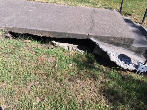Sidewalk Stair Foundation Support Cover Photo