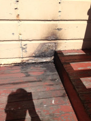 Burnt Portion Of Wall Cover Photo