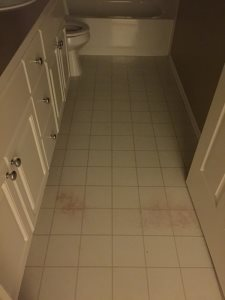 Laying Tile Floor