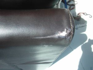 Damage Leather Couch Cover Photo