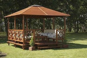 Build Gazebo On Square Deck Cover Photo