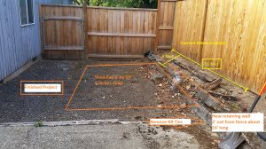 Shed Pad And Small Retaining Wall Cover Photo