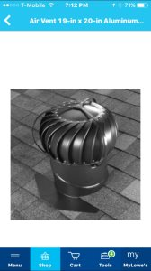 Roof Turbine Vent Cover Photo