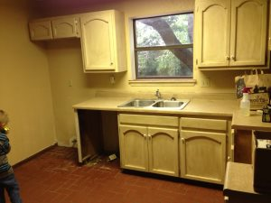 Restaining Kitchen Cabinets