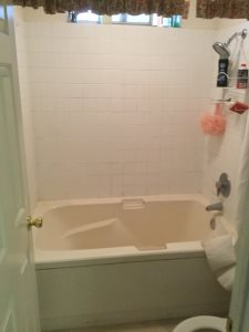 How Much To Tile a Bathroom Before Photo